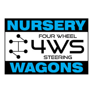 Four Wheel 4WS Steering Wagons Wellmaster greenhouse and nursery products