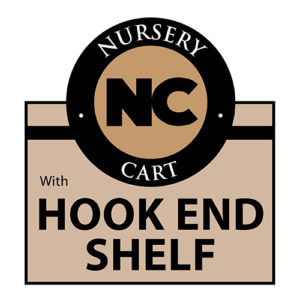 Nursery hook end shelf cart Wellmaster Nursery and Greenhouse Products
