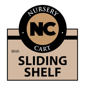 Nursery sliding shelf cart Wellmaster Nursery and Greenhouse Products