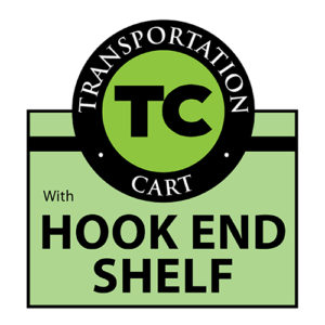 TC TRansportation hook end shelf cart Rhino_Logo Wellmaster Nursery and Greenhouse Product