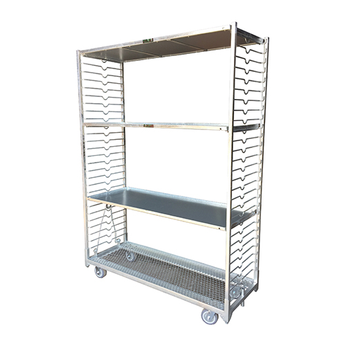 Cart with adjustable shelves