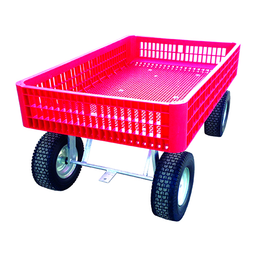 Red Garden Wagon from reverse