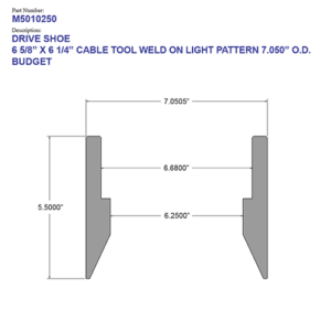 """06.625"""" Budget Drive Shoe – Cable Tool – Weld On – Light Pattern (6 5/8"""") - Wellmaster"""