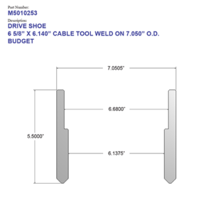 """06.625"""" Budget Drive Shoe - Cable Tool - Weld On (6 5/8"""") - Wellmaster"""
