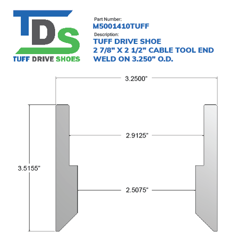 """02.875"""" Drive Shoe – Cable Tool – Weld On (2 7/8"""") - Wellmaster"""