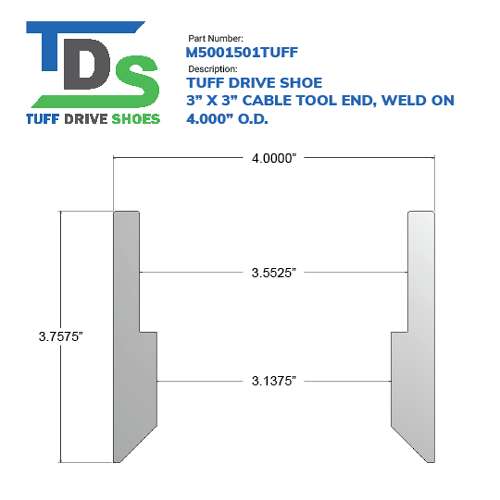 """03.000"""" Drive Shoe – Cable Tool – Weld On (3"""") - Wellmaster"""