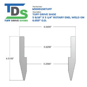 "05.563"" Drive Shoe – Rotary – Weld On (5 9/16"") - Wellmaster"